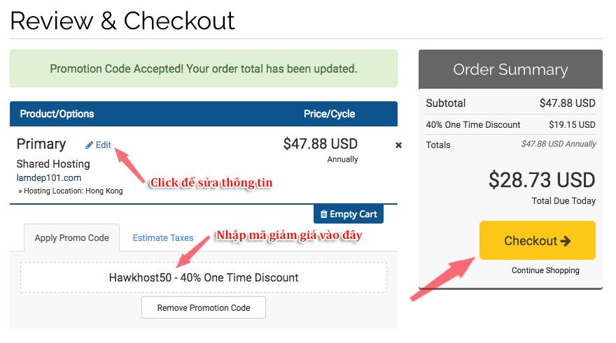 mã giảm giá hawkhost