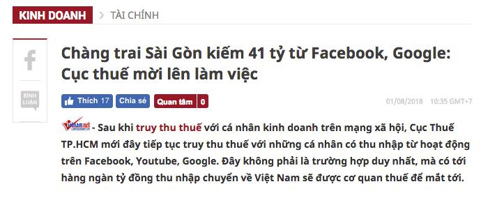 kiem tien online tu facebook va google