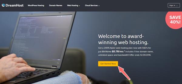 cach mua hosting tại dreamhost