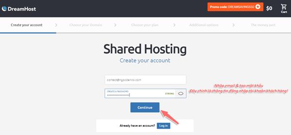 hướng dẫn mua hosting tại dreamhost