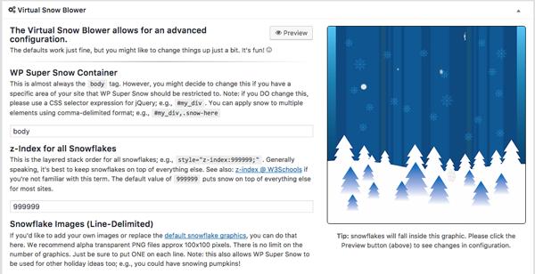 tạo hiệu ưng tuyết rơi trên wordpress