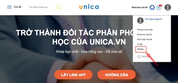 hướng dẫn kiếm tiền với unica