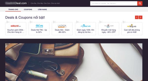 tạo website chia sẻ mã giảm giá