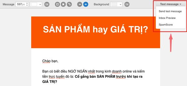 danh gia diem spamscore cua email marketing