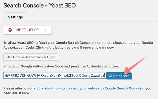 cach ket noi google search console voi yoast seo