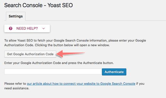 cach cai hinh tab search console cua plugin yoast seo