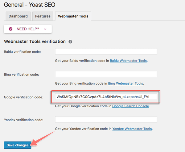cach cai dat tab google webmasster tool cua yoast seo
