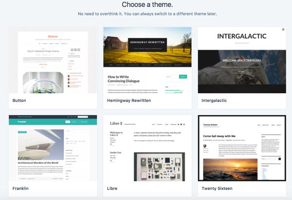 chọn giao diện blog
