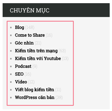 them categorie vao sidebar cua blog