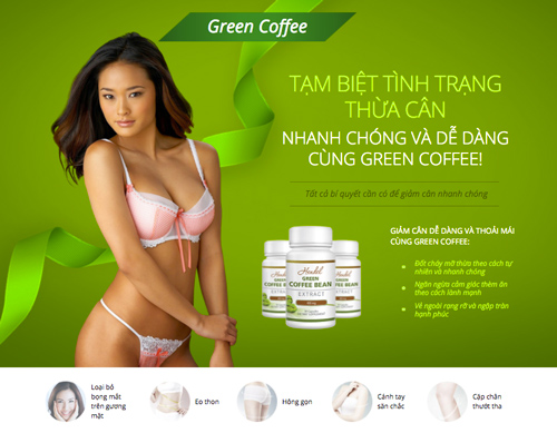 vien uong giam can green coffee