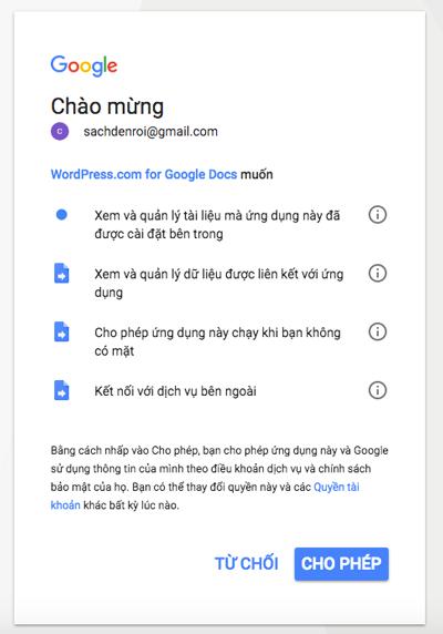 cach tai bai viet tu google docs len wordpress