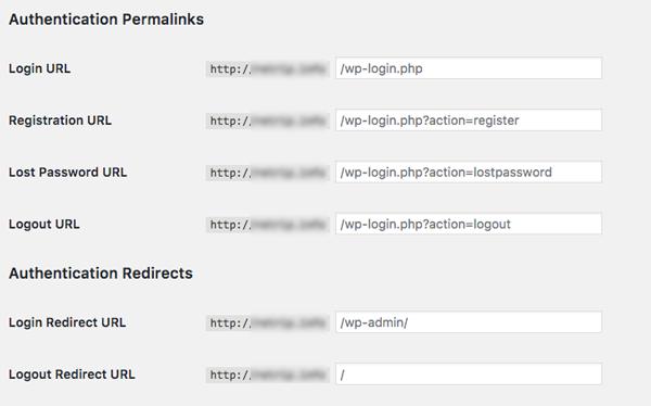 doi url trang admin wordpress
