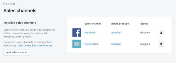 add sales channel vao shopify