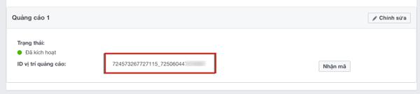 cach dat ma quang cao vao facebook audience network 01 - Kiếm tiền trên Facebook: Những cách giúp bạn tận dụng Facebook, Fanpage, Group để kiếm tiền
