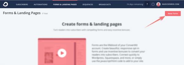 cách tạo form đăng ký email