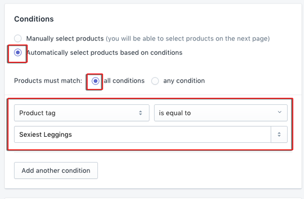 create collection in shopify