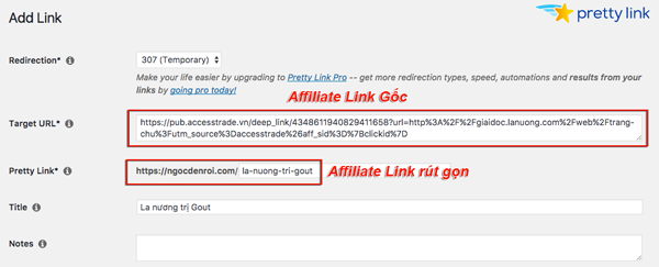 cach rut gon affiliate link