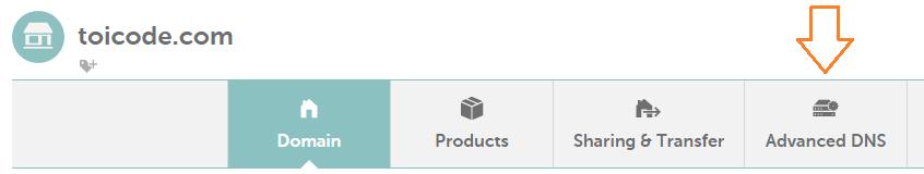 tab advanced DNS