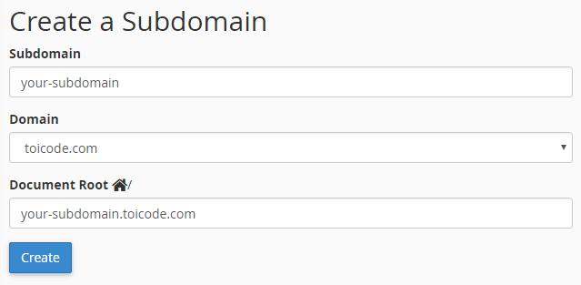 them sub domain