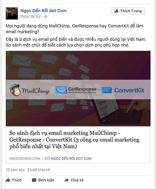 quang cao bai viet blog tren facebook