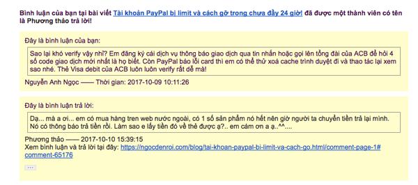 plugin thong bao binh luan tren blog