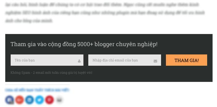 cach thu thap danh sach email tren blog