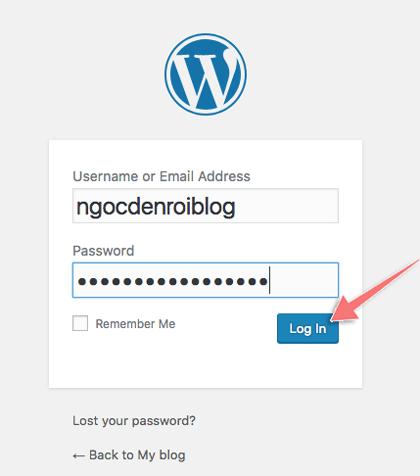 dang nhap trang admin wordpress
