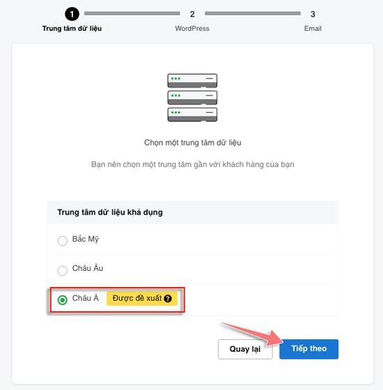 cach chọn server khi cai dat Godaddy hosting