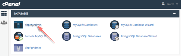 nen database wordpress