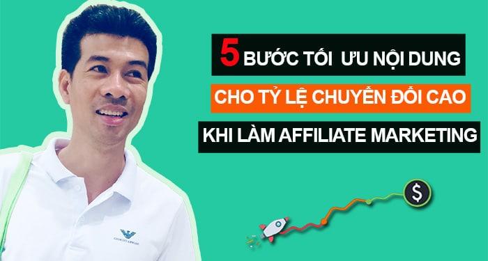 tối ưu nội dung làm affiliate marketing