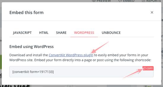 cách nhúng form đăng ký email vào blog wordpress