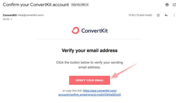 đăng ký convertkit miễn phí