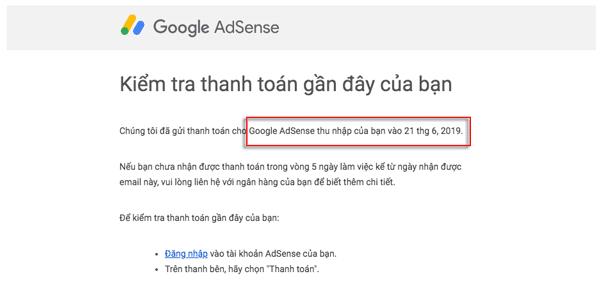 nhận tiền mmo từ google adsense