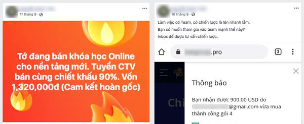 lừa đảo bán khoá hoc online