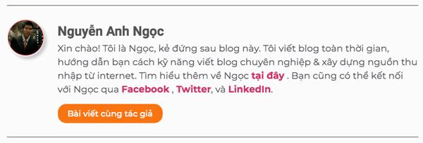 hộp thông tin tác giả blog