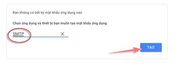 smtp của gmail