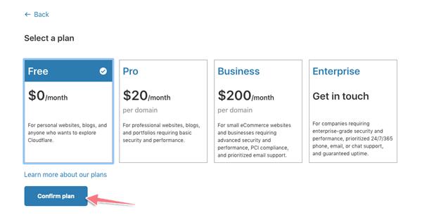 tạo tài khoản cloudflare miễn phí