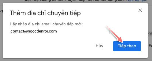 cách chuyển tiếp thu gmail về địa chỉ gmail khác