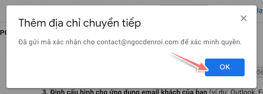 cách forward mail trong gmail