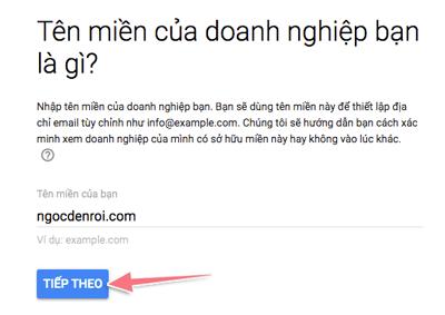 dịch vụ email tên miền riêng của google