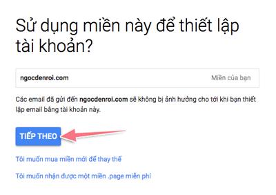 hướng dẫn tạo email tên miền với gmail