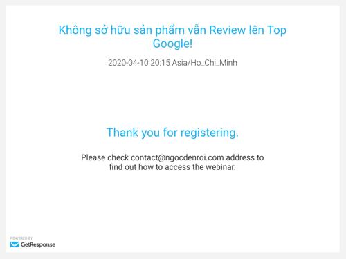 webinar với getresponse