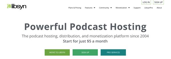 dịch vụ lưu trữ podcast libsyn