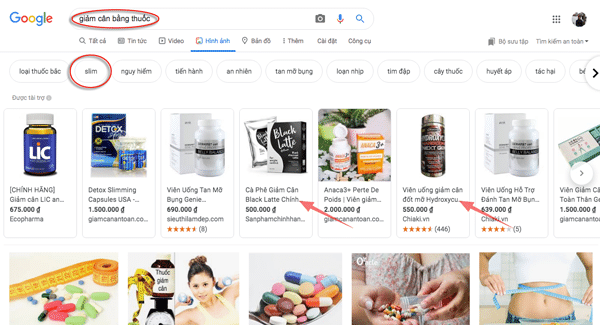 tìm ý tưởng nội dung bằng gợi ý hình của google
