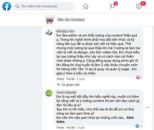 tìm ý tưởng nội dung trên fb group