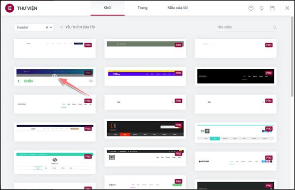 cách tạo thanh menu bằng elementor pro