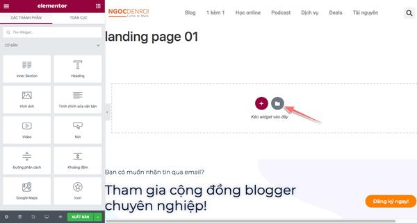 hướng dẫn tạo landing page bằng plugin elementor