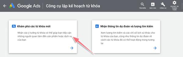 nghiên cứu từ khoá bằng google keyword planner