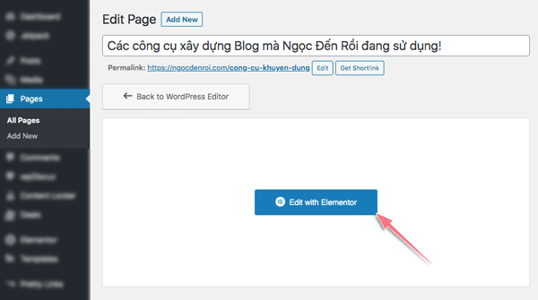 hướng dẫn sử dụng elementor pro thiết kế trang web