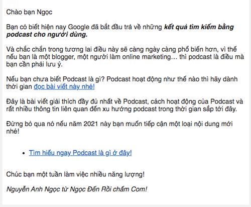 Quảng bá bài viết bằng email marketing